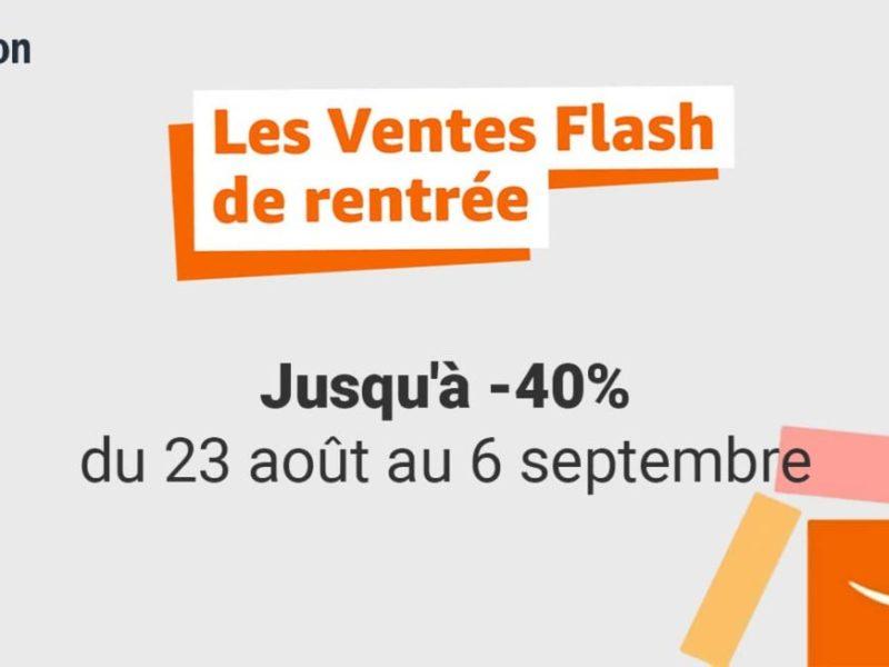 Les ventes flash de rentrée Amazon